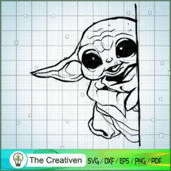 Baby Yoda Hide SVG, Star Wars SVG, The Mandalorian SVG, Grogu SVG
