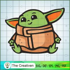 Baby Yoda Sit Colorful SVG, Star Wars SVG, The Mandalorian SVG, Grogu SVG