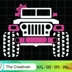 Girl's Jeep SVG, Girl's Jeep Digital File, Jeep SVG