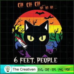 6 Feet People Halloween Cat LGBT Pride SVG , Happy Halloween Digital File, Halloween SVG