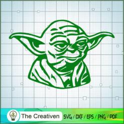 Head Old Yoda SVG, Star Wars SVG, The Mandalorian SVG, Grogu SVG