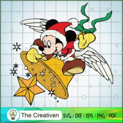 Mickey Santa Claus Ring Bells SVG , Disney Christmas SVG , Disney Mickey SVG, Funny Mickey SVG