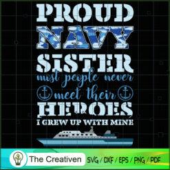 Proud Navy Sister SVG , Veteran SVG, Veterans Day SVG, US Army SVG, American Flag SVG