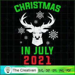 Christmas in July Reindeer Snow Summer SVG , Christmas 4th of July SVG , 4th of July SVG , Christmas SVG