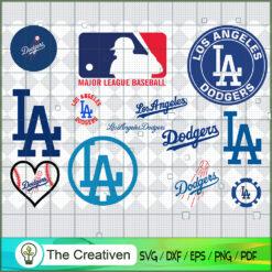 Los Angeles Dodgers SVG PNG EPS DXF – Baseball Lovers Cricut Cameo File Silhouette Art , Baseball SVG , MLB SVG