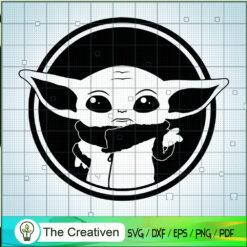 Baby Yoda In A Circle SVG, Star Wars SVG, The Mandalorian SVG, Grogu SVG