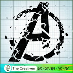 Crushed Logo Distressed SVG, Avengers SVG, Movie SVG, Super Hero SVG
