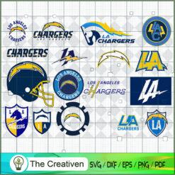 Los Angeles Chargers Bundle SVG, Football Svg Bundle SVG , NFL Team SVG , Los Angeles Chargers Sport SVG
