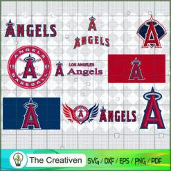 Los Angeles Angels SVG PNG EPS DXF – Baseball Lovers Cricut Cameo File Silhouette Art , Baseball SVG , MLB SVG