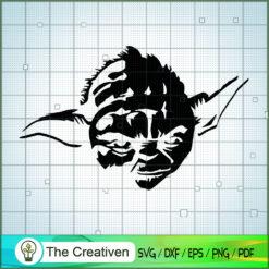 Black Head Baby Yoda SVG, Star Wars SVG, The Mandalorian SVG, Grogu SVG