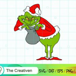 How The Grinch Stole Christmas SVG , Grinch Smile SVG , Grinch Christmas Hat SVG , Christmas SVG