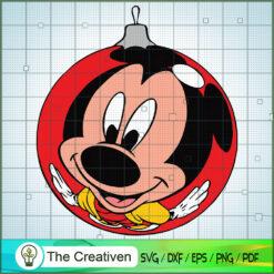 Mickey Bauble Christmas SVG , Disney Christmas SVG , Disney Mickey SVG, Funny Mickey SVG