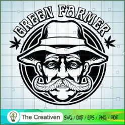 Cannabis Leaf Farmer Logo SVG , Marijuana Leaf SVG, Cannabis SVG, Pot Leaf SVG, Weed SVG