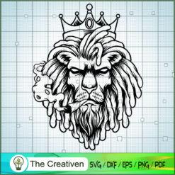 Lion King Smoked Weed Graphic Silhouette SVG , Marijuana Leaf SVG, Cannabis SVG, Pot Leaf SVG, Weed SVG