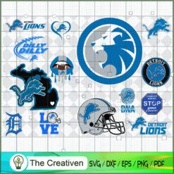 Detroit Lions Bundle SVG, Football Svg Bundle SVG , NFL Team SVG , Detroit Lions Sport SVG