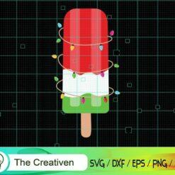 Ice Cream Watermelon Christmas in July SVG, Ice Cream Watermelon Christmas in July Digital File, Christmas Ice Cream SVG