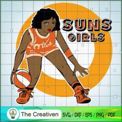 Suns Girl NBA Champion SVG, NBA Girl, Afro Woman SVG, Black Woman SVG