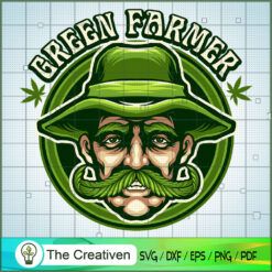 Green Farmer Cannabis SVG , Marijuana Leaf SVG, Cannabis SVG, Pot Leaf SVG, Weed SVG