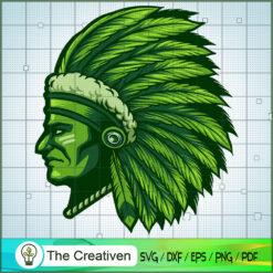 Indian Marijuana Leaf Head SVG, Marijuana Leaf SVG, Cannabis SVG, Pot Leaf SVG, Weed SVG