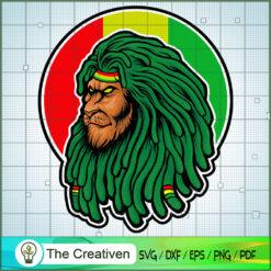Dreadlocks Head Lion Rasta SVG, Marijuana Leaf SVG, Cannabis SVG, Pot Leaf SVG, Weed SVG