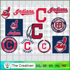 Cleveland Indians SVG PNG EPS DXF – Baseball Lovers Cricut Cameo File Silhouette Art , Baseball SVG , MLB SVG