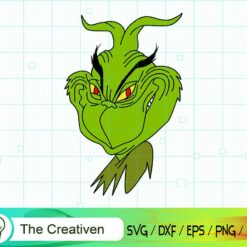 The Grinch Head Smile SVG , Grinch SVG, Christmas Tree SVG, Merry Christmas SVG