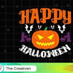 Happy Halloween Pumpkin SVG, Happy Halloween Pumpkin Digital File, Pumpkin SVG