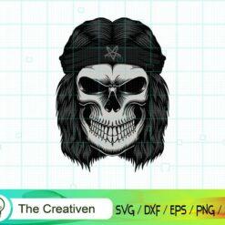 Skull Rocker Head Stickers SVG, Skull Rocker Head Stickers Digital File, Skull SVG