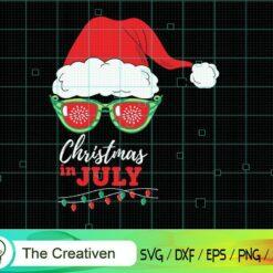 Santa Hat Sunglasses Christmas in July SVG, Santa Hat Sunglasses Christmas in July Digital File, Christmas Santa Hat SVG