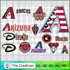 Arizona Diamondbacks SVG PNG EPS DXF – Baseball Lovers Cricut Cameo File Silhouette Art , Baseball SVG , MLB SVG