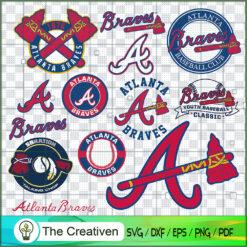 Atlanta Braves Logo Bundle, Major League Baseball SVG Bundle, USA Baseball SVG
