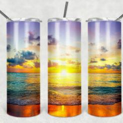 Beach Sunset Tumbler Design 20oz Tumbler