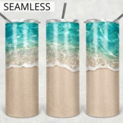 Beach Tumbler Wrap 20oz Skinny Design