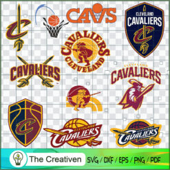 Cleveland Cavaliers Logo Bundle, Major League Baseball SVG Bundle, USA Baseball SVG