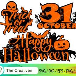 Halloween Happy SVG, Halloween Happy Digital File, Halloween 31 October SVG