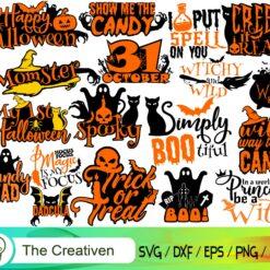 Halloween PNG Bundle, Halloween Bundle Clipart, Bundle SVG
