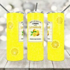 Lemonade Tumbler Design-Sublimation