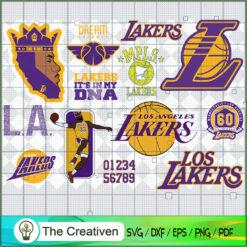 Los Angeles Lakers SVG, Basketball SVG,  National Basketball Association SVG