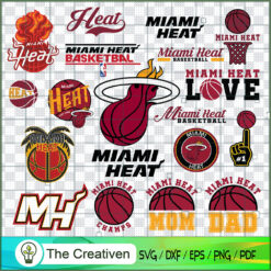 Miami Heat Logo Bundle, Major League Baseball SVG Bundle, USA Baseball SVG