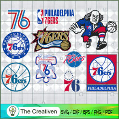 Philadelphia 76ers SVG, Basketball SVG,  National Basketball Association SVG