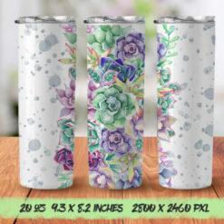Succulent 20oz Skinny Tumbler Designs