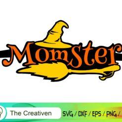 Momster Happy Halloween SVG, Momster Happy Halloween Digital File, Momster SVG