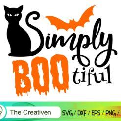 Simply Bootiful SVG, Simply Bootiful Digital File, Halloween Boo SVG