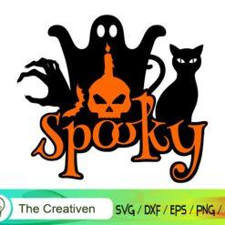 Spooky Happy Halloween SVG, Spooky Happy Halloween Digital File, Halloween Spooky SVG