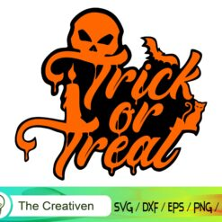 Trick Or Treat Happy Halloween SVG, Trick Or Treat Happy Halloween Digital File, Halloween Quotes SVG