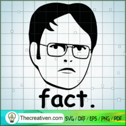 Fact Funny Face SVG, The Office TV Show SVG, Funny Movie SVG