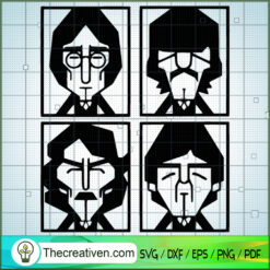 The Beatles Silhouette SVG, Rock Band SVG, The Beatles SVG, The Beatles The Legend Of Rock SVG