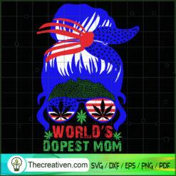 World's Dopest Mom SVG, Smoke Weed SVG, Cannabis SVG, Pot Leaf SVG
