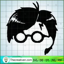 Outline Face Harry Potter SVG, Hogwarts SVG, Harry Potter SVG