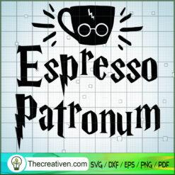 Espresso Patronum SVG, Hogwarts SVG, Harry Potter SVG